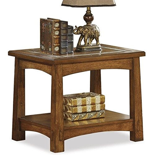 Riverside Furniture 212656 Craftsman Home Side Table in Americana Oak Finish