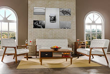 Load image into Gallery viewer, Baxton Studio Mid-Century Masterpieces Loveseat, White