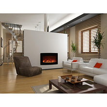 "Load image into Gallery viewer, Elite Flame 35"" York Curved Black Wall Mounted Electric Fireplace"