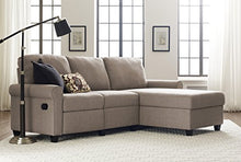 Load image into Gallery viewer, Serta Copenhagen Reclining Sectional with Right Storage Chaise - Beige