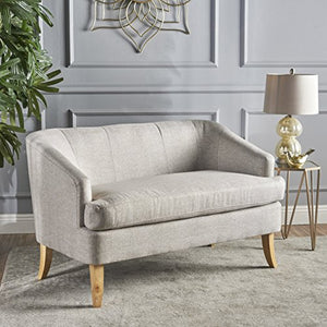 Christopher Knight Home 302073 Shelby Mid Century Modern Fabric Loveseat (Beige)