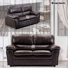 Load image into Gallery viewer, Sofa Sleeper Sofa Leather Loveseat Sofa Contemporary Sofa Couch for Living Room Furniture 2 Seat Modern Futon