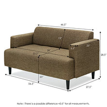 Load image into Gallery viewer, Furinno Simply Home Modern Fabric Sofa Bed, Brown SF808BR