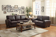 "Load image into Gallery viewer, Homelegance Rubin 85"" Bonded Leather Sofa, Dark Brown"