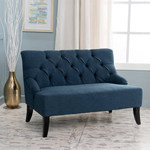 Load image into Gallery viewer, Christopher Knight Home 299949 Nicole Dark Blue Fabric Settee,