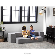 Load image into Gallery viewer, LUCID 8 Inch Convertible Foam Sofa and Foldable Play Mat - Durable Fashion Cover