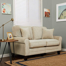 "Load image into Gallery viewer, Serta RTA Copenhagen Collection 61"" Loveseat in Marzipan"
