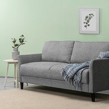 Load image into Gallery viewer, Zinus Jackie Classic Upholstered 71 Inch Sofa / Living Room Couch, Soft Grey