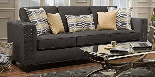 Chelsea Home Oliver Paradigm Smoke Fabric Sofa