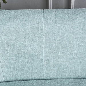 Christopher Knight Home 302075 Shelby Mid Century Modern Beige Fabric Loveseat (Light Blue)