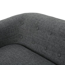 Load image into Gallery viewer, GDFStudio 301296 Bron Yr AUR Button Back Mid Century Fabric Modern Loveseat (Grey),