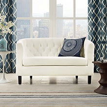 Load image into Gallery viewer, Modway Prospect Velvet Upholstered Contemporary Modern Loveseat In Ivory