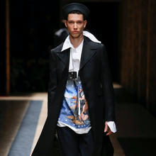 "Load image into Gallery viewer, Prada AW 2016 Christophe Chemin ""Impossible True Love"" Oversized LS Button Down Shirt"
