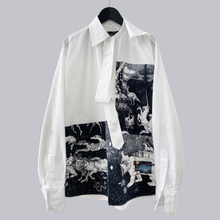 "Load image into Gallery viewer, Prada AW 2016 Christophe Chemin ""Survival Utopia"" Oversized LS Button Down Shirt"