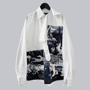 "Prada AW 2016 Christophe Chemin ""Survival Utopia"" Oversized LS Button Down Shirt"