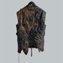 Load image into Gallery viewer, AW 2006 Maison Martin Margiela 0 10 Artisanal Pilot Caps Leather Blouson