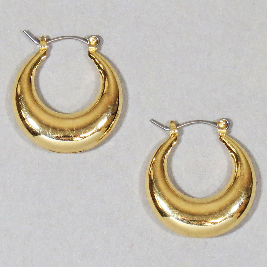 Puffed Hoop Earrings