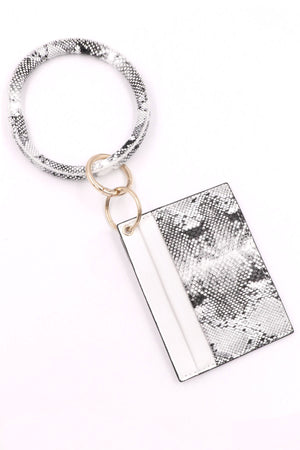 White Snake Card Holder