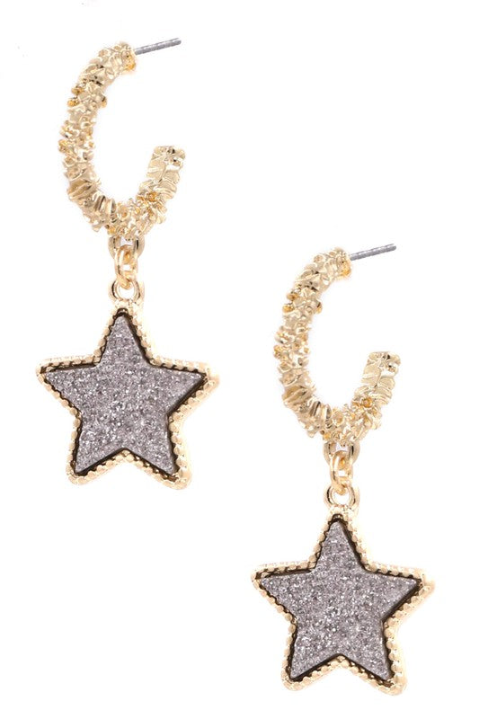 Shining Star Earring In Silver