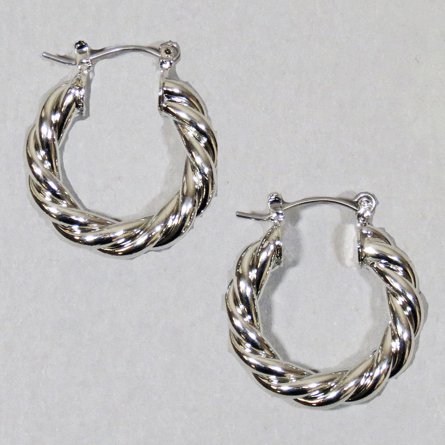 Bold Twist Hoop Earrings