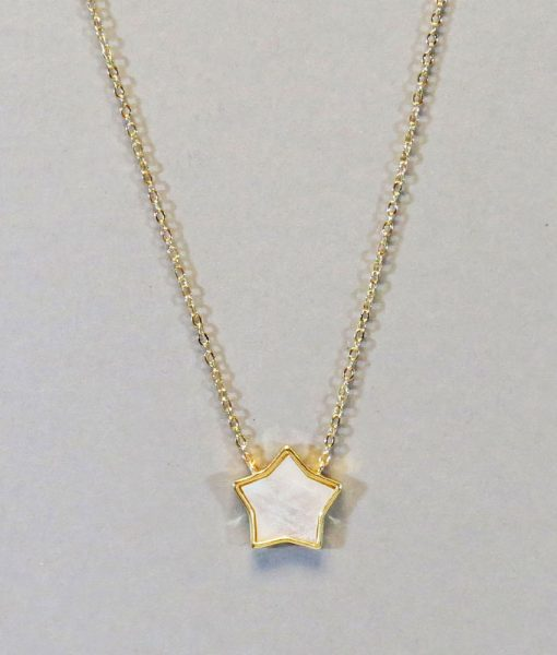 Mother Of Pearl Star Necklace