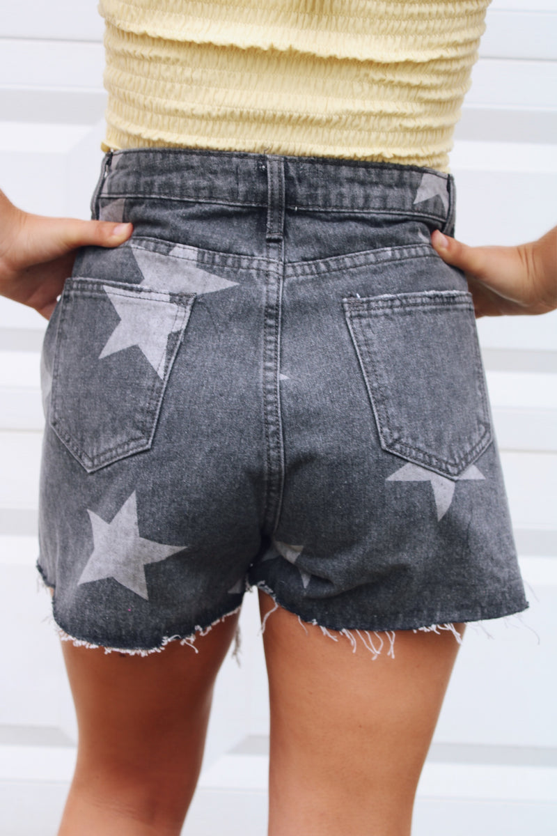 Shine Bright Shorts In Grey