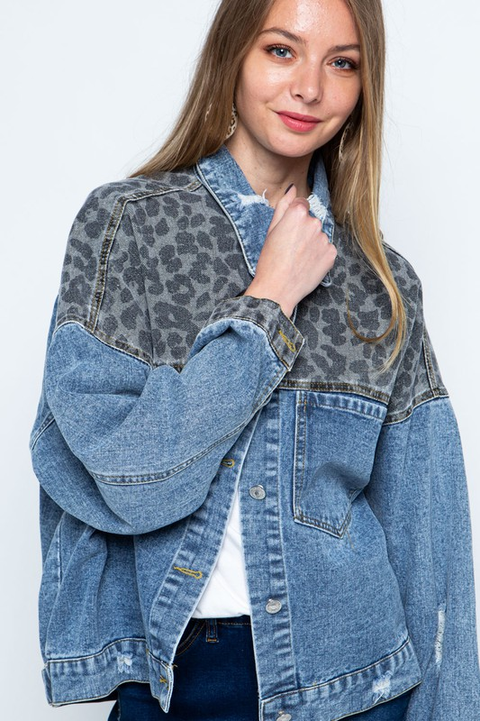 Leopard Patch Jacket