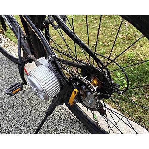 250W Electric Conversion Kit for Common Bike Left Chain Drive Customized for Electric Geared Bicycle Derailleur(Twist Kit)
