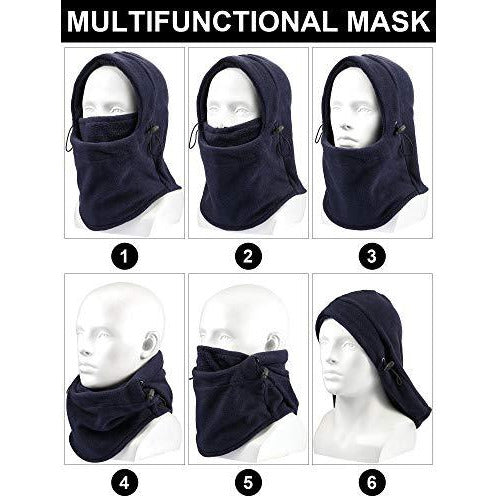 4-Pieces Balaclava Fleece Hood for Cycling
