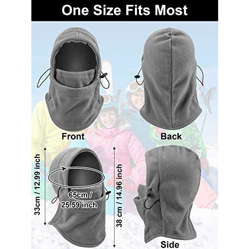 4 Pieces Balaclava Fleece Hood for Women Men, Cold Weather Balaclava Ski Face Cover Winter Gear Neck Warmer Hood for Cycling Motorcycling