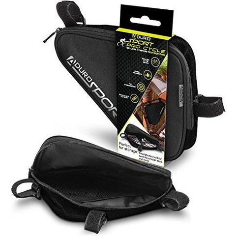 Aduro Sport Bicycle Bike Storage Bag Triangle Saddle Frame Pouch for Cycling (Black)