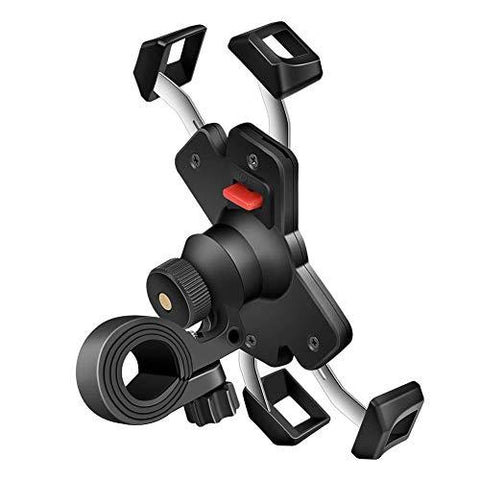 Anti-Shake Bike Phone Mount with Stainless Steel Clamp Arms