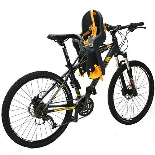 Bicycle Seat for - Kids Child Children Infant Toddler - Front Mount Baby Carrier Seat Bike Carrier USA Safety Standard with Handrail - Great for Adult Bike Attachment
