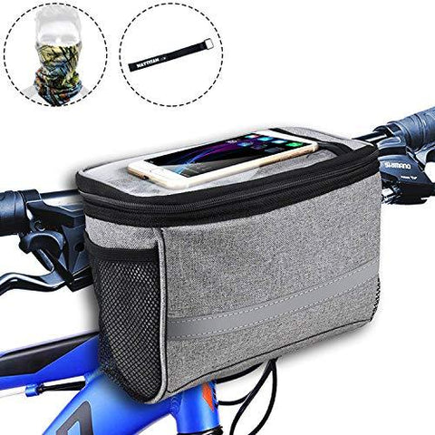 Bike Handlebar Insulated Bag with Touchable Phone Pouch
