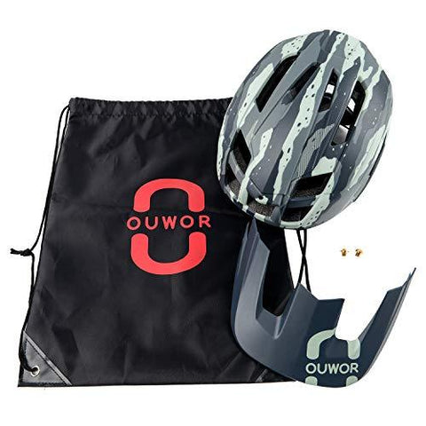 Bike Helmet with Removable Visor and Adjustable Dial