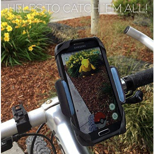 Bike & Motorcycle Phone Mount - for iPhone 11 Pro (Xs, Xr, 8, Plus/Max), Galaxy s20 or Any Cell Phone - Universal Handlebar Holder for ATV, Bicycle & Motorbike. +100 to Safeness & Comfort