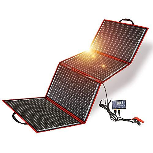 Electric Bikes Foldable 220W Solar Charger with Dual USB Outputs