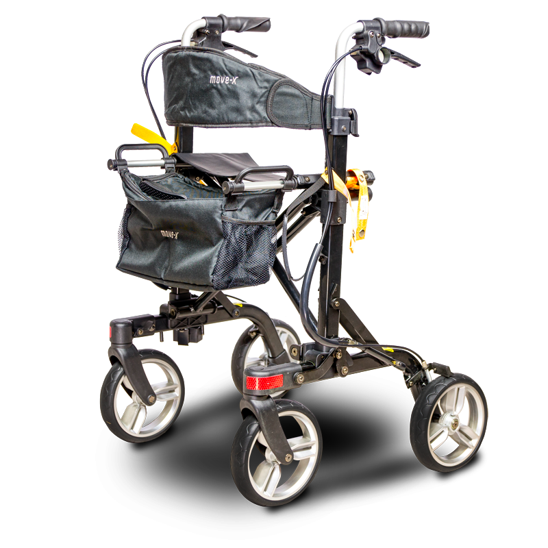 EV Rider Move X Foldable 4 Wheel Rollator Walker RU4131