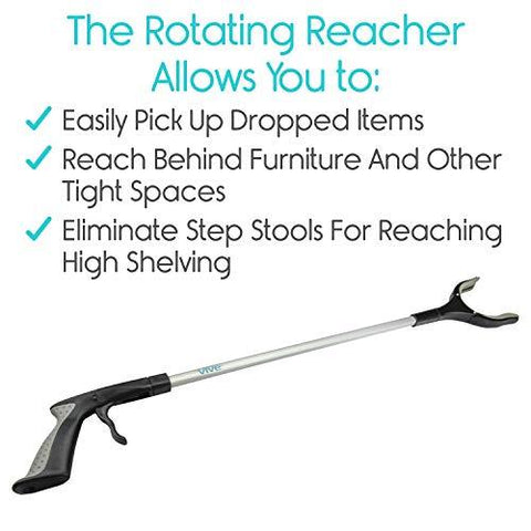 Extra Long Rotating Reaching Tool for Mobility Assist