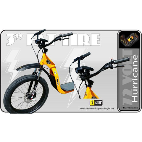 Glide Cruisers Hurricane 48V 3000 Watt Fat Tire Electric Scooter F3