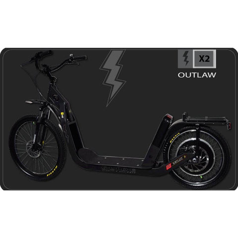 Glide Cruisers Outlaw 48V 2000 Watt Hybrid Electric Kick Scooter X2