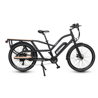 GoPowerBike GoCargo 750W 48V/10Ah All Terrain Fat Tire Electric Bike B202BLK