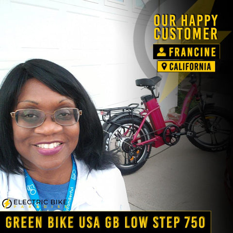 Green Bike USA GB Low Step Fat Tire 48V/18.20Ah 750W Folding Fat Tire Electric Bike