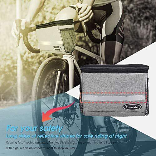 Handlebar Insulated Bag with Touchable Phone Pouch