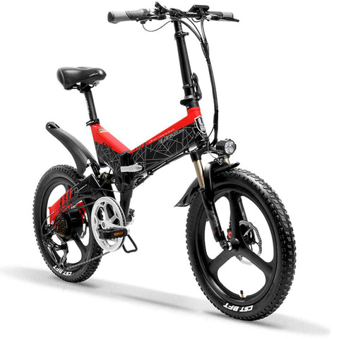 LANKELEISI 48V/10.4Ah 400W Folding Electric Bike G650