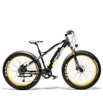 LANKELEISI 48V/12.8Ah 1000W Fat Tire Electric Mountain Bike XC4000