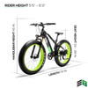 Image of LANKELEISI 48V/12.8Ah 1000W Fat Tire Electric Mountain Bike XC4000