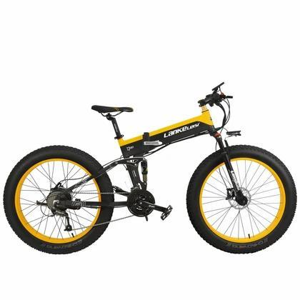 LANKELEISI T750 Plus 48V/10.4Ah 1000W Folding Fat Tire Electric Bike T750P