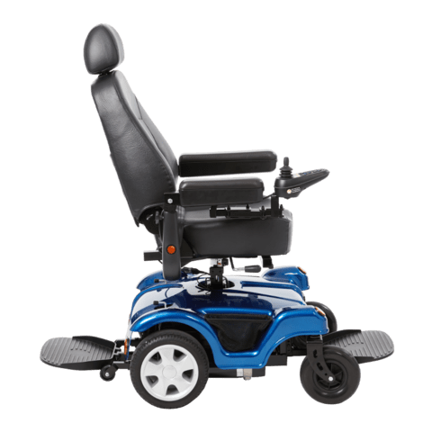 Merits Health Compact FWD/RWD 24V 180W Dualer Rear-Wheel Electric Wheelchair P312