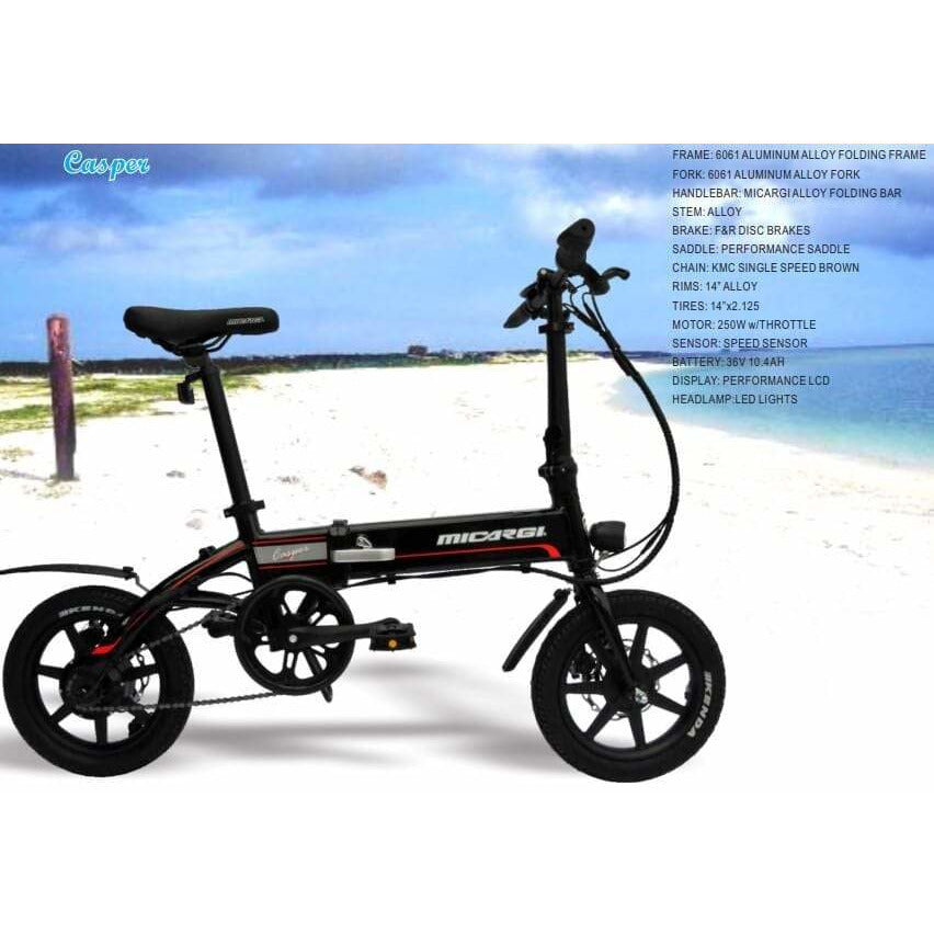Micargi Casper 36V/10.4Ah 250W Folding Electric Bike